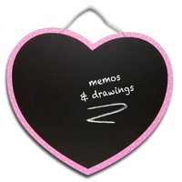 Children's heart-shaped chalkboard