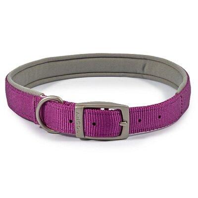 Ancol Viva Padded Buckle Collar Purple 55-63cm