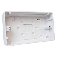 MK LOGIC PLUS MOULDED SURFACE BACK BOX 30MM 2 GANG