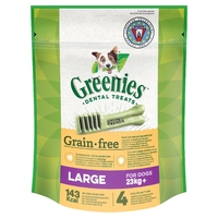 Greenies Original GRAIN FREE Dental Treats - Large 170g x 1