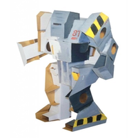 Build and paint cardboard robot that can be played with after it's made