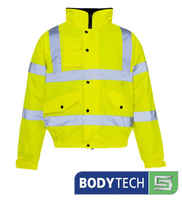 Bodytech HiViz Bomber Jacket, Yellow