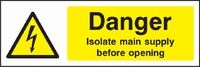 Warning and Electrical Hazard Sign WARN0008-1577