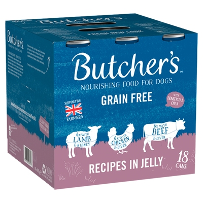 Butchers Cans Meaty Recipes in Jelly 400g x 18