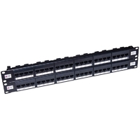 Connectix 48 PORT 2U CAT5E ELITE PATCH PANEL