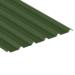 Juniper Green Steel Box Profile plastic coated
