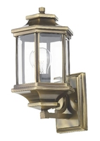 Ladbroke Lantern IP44, Antique Brass Complete With Bevelled Glass | LV1802.0165