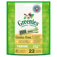 Greenies Original GRAIN FREE Dental Treats - Teenie 170g x 1