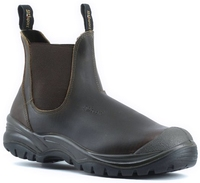 Grisport Genoa Steel Toe Slip On Safety Boot Brown