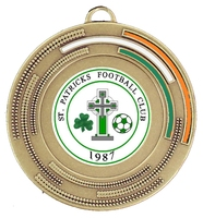 50mm Medal with Tri Colour Infill (Bronze)