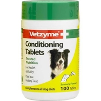 Vetzyme Dog Conditioning Tablets 100 Tab x 1