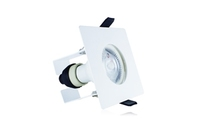 EvoFire 70mm cut-out IP65 Fire Rated Downlight Square White GU10 Holder with Bracket