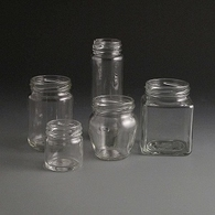 Glass jars 40 to 190ml