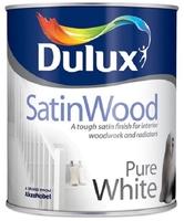 DULUX SATINWOOD PURE BRILLIANT WHITE 750ML