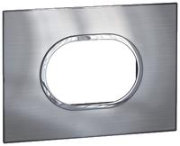Arteor (British Standard) Plate 3 Module Round Stainless Steel | LV0501.0208