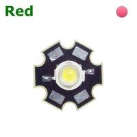 TKL-HP1R | POWER LED 1 WATT RED  - WITH DISSIPATOR