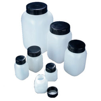 Bottles Azlon 500ml Wide Mouth Hdpe, With Bla
