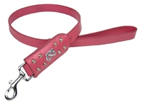 "Avon Bull Terrier Leather Lead 30"" Pink x 1"