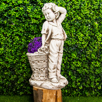 Boy or Girl with Planter - 68cm