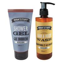 Man Stuff Shower Gel And Body Wash Duo
