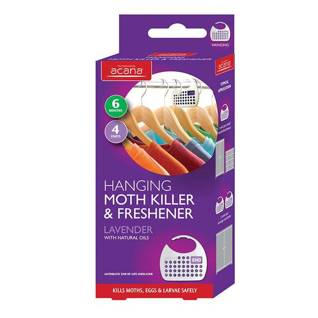 Acana Hanging Moth Killer and Freshener 4pk