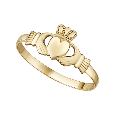9K MINI CLADDAGH RING
