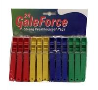 GALEFORCE PLASTIC CLOTHES PEGS PAK 24
