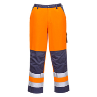 Portwest Lyon Hi-Visibility Trousers Hi-Vis Orange/Navy
