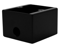 Kelsey Black Single Gang Extra Deep Wall Box