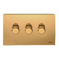 Flat Plate PL BR DIMMER  3Gang 2way| LV0701.0543