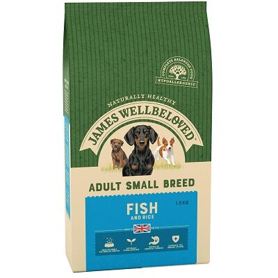 James Wellbeloved Small Breed Fish & Rice Dog Food 1.5kg