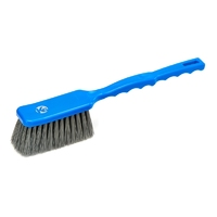 Detectable bread brush - long handled, stiff PBT bristle, 410mm, blue