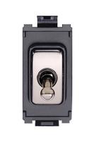 Schneider Ultimate Screwless Grid Polished Brass Toggle black|LV0701.1063