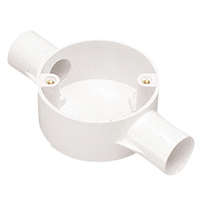 Plastic Conduit 20MM 2 Way Circular Box