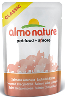 Almo Nature Classic Cat Pouch - Nature Salmon & Pumpkin 55g x 24