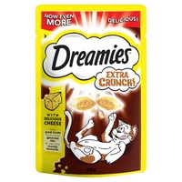 Dreamies Extra Crunch Cat Treats - Cheese 60g x 8