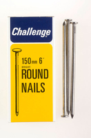 Challenge Bright Steel Round Wire Nails 150mm 500g - 12038