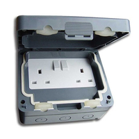 Schneider 13A 2 Gang Switched Socket IP66
