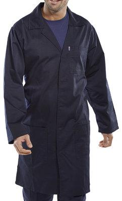 Navy PolyCotton Warehouse Coat