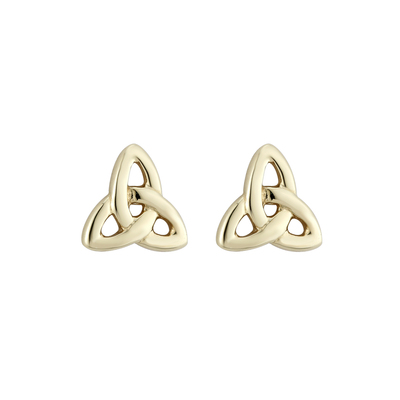 14K TINY TRINITY KNOT STUD EARRINGS
