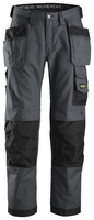 Snickers Steel Grey 3214 Canvas+ Holster Work Trousers