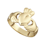 10K HALLOW BACK GENTS CLADDAGH RING