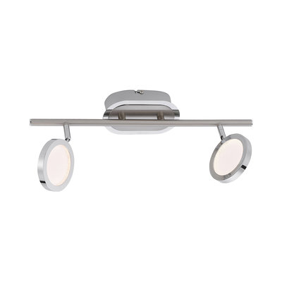 Paul Neuhaus Nola Warm White 2 x 4.6W LED Stainless Steel Bar Light | LV2002.0003