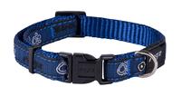 "Rogz Navy Paw XL (Armed Response) Adjustable Collar 17""-29"" x 1"