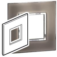 Arteor (British Standard) Plate 2 Module 1 Gang Square Mirror Taupe | LV0501.0179