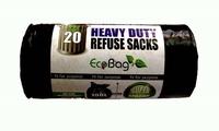 ECOBAG 20 HEAVY DUTY REFUSE SACKS 100 LTR