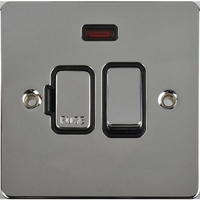 Schneider Ultimate Low Profile Fused Spur switched with neon Polished Chrome with Black Insert | LV0701.0069