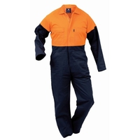 Hi Vis Day Only Industrial Maxim Cotton Zip Overall 310gsm