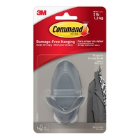 Command Graphite Double Hooks 17087G