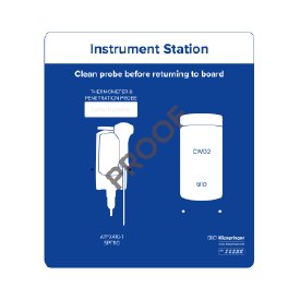 Instrument station for 1x instrument & 1x wipes